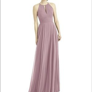Dessy dress 1502 in dusty rose chiffon